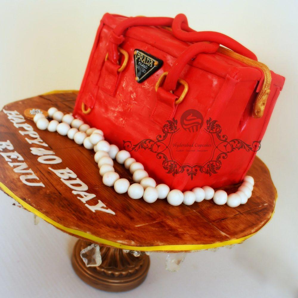 Prada Handbag Custom Cake Hyderabad Cupcakes