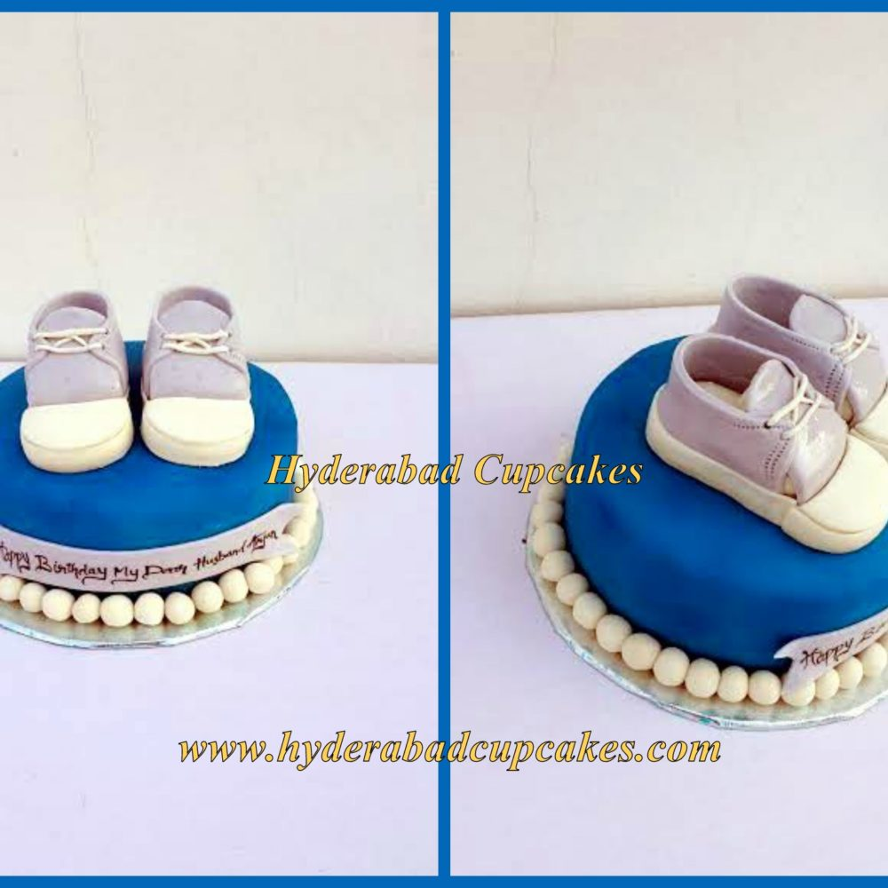 Birthday Cake Husband Baby Boy Shoes Sneakers Hyderabad Cupcakes
