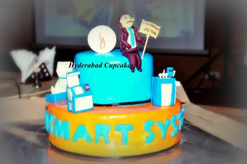 Corporate Anniversary Machinery Cake Hyderabad Cupcakes