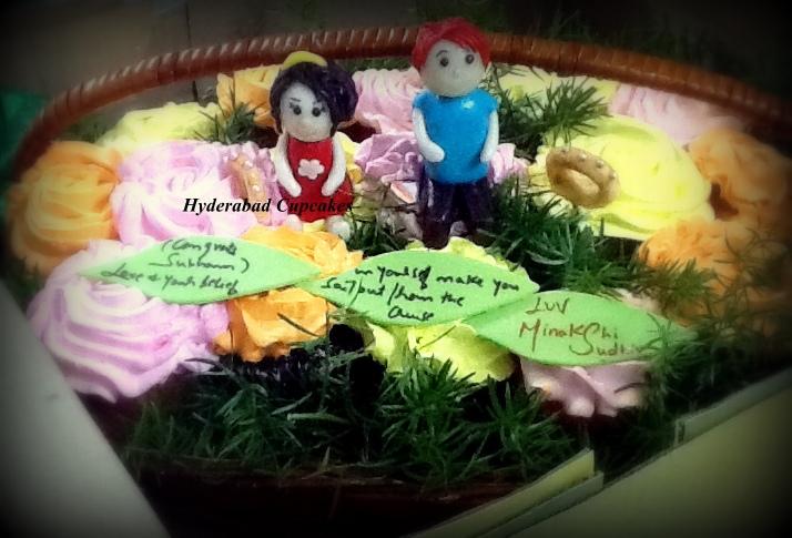 Custom Cupcake Bouquet Fondant Hyderabad Cupcakes