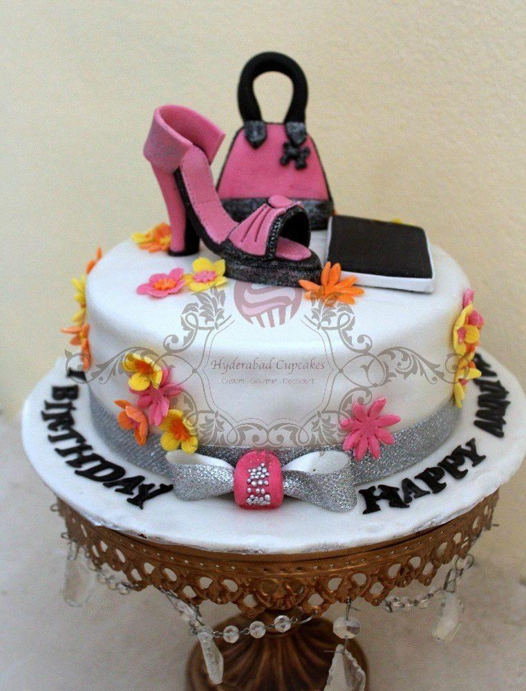 Fashionista Cake High Heel Shoe Accessories Fashion Cake Iphone Cake Hyderabad Cupcakes