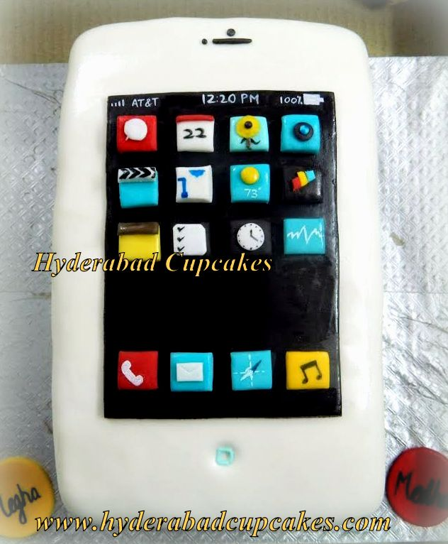 Iphone Custom Cake 3d Apps Birthday Cake Personalized Hyderabad Cupcakes