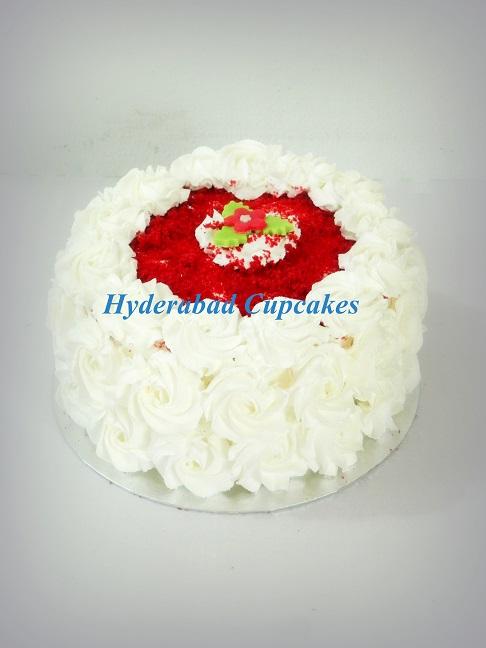 Red Velvet Rosettes Cake Hyderabad Cupcakes