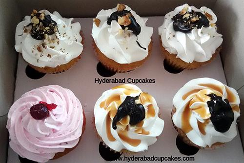 Six Gourmet Cupcakes Hyderabad Cupcakes