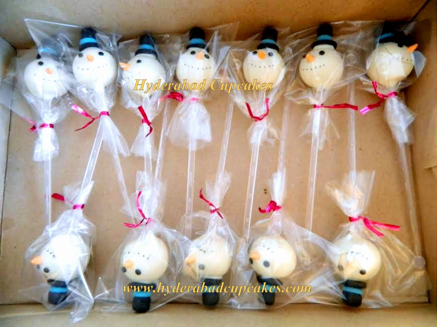Snowman Cake Pops Hyderabad Cupcakes