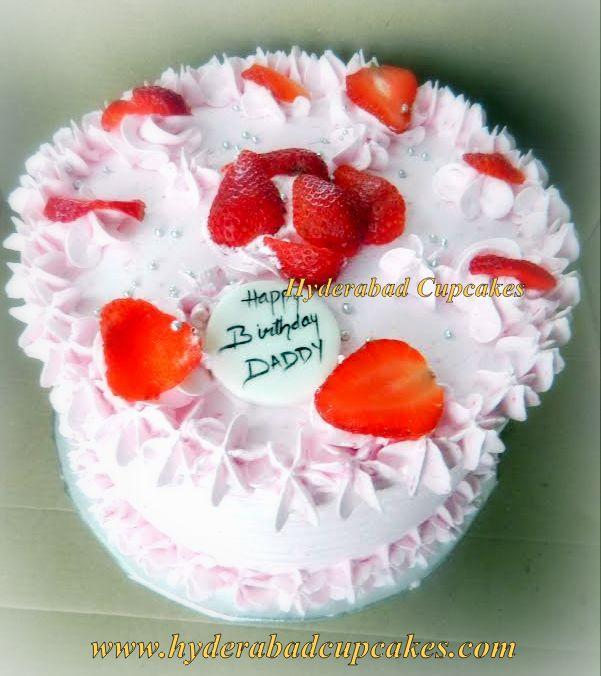 Strawberry Birthday Cake Pink Hyderabad Cupcakes