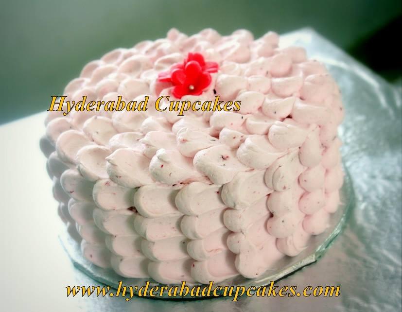 Strawberry Cake Petals Hyderabad Cupcakes