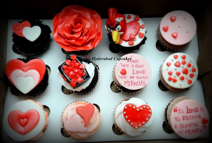 Valentines Collection Cupcakes Hyderabad Cupcakes
